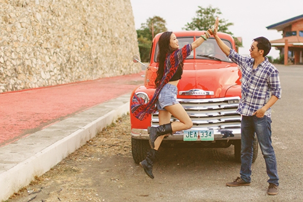 Cuckoo Cloud Concepts Franz Sherry Engagement Session Red Truck Bohemian Road Trip Cebu Stylist-28