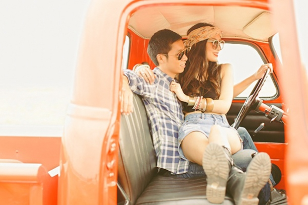 Cuckoo Cloud Concepts Franz Sherry Engagement Session Red Truck Bohemian Road Trip Cebu Stylist-5