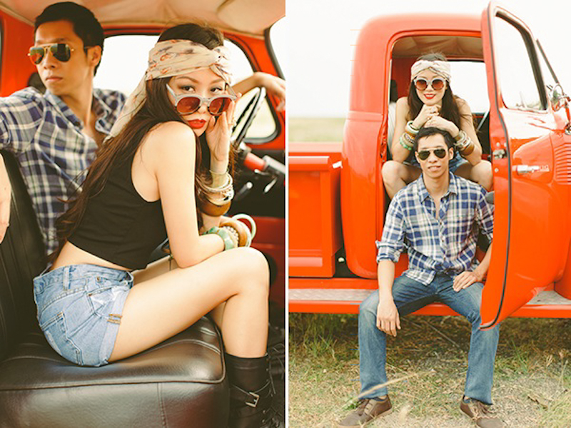 Cuckoo Cloud Concepts Franz Sherry Engagement Session Red Truck Bohemian Road Trip Cebu Stylist-6