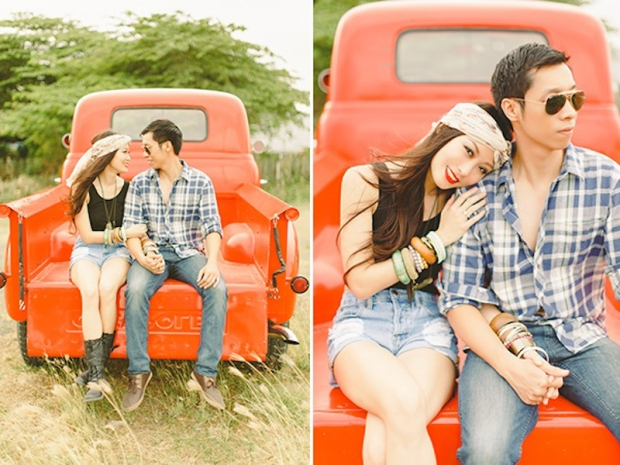 Cuckoo Cloud Concepts Franz Sherry Engagement Session Red Truck Bohemian Road Trip Cebu Stylist-9