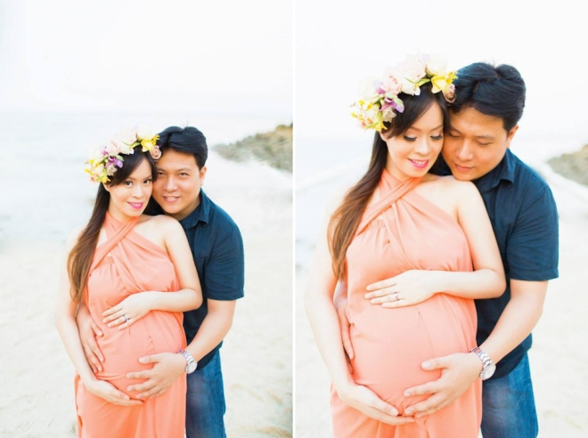 Cuckoo Cloud Concepts Ivy Maternity Session Beach Florals Shangrila-23