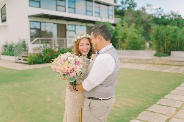 Cuckoo Cloud Concepts Jayson and Charm Secret Wedding Rancho Cancio Cebu Wedding Stylist Bohemian Elegance Event Styling Lush Bouquet Intimate -11