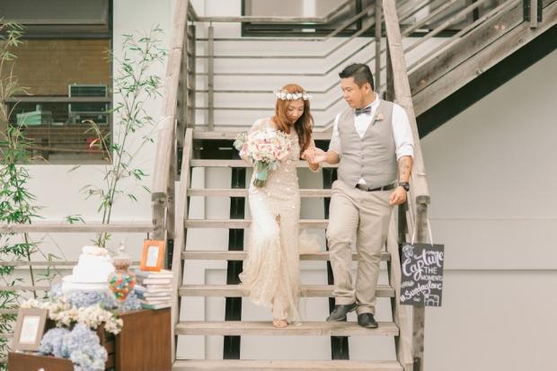Cuckoo Cloud Concepts Jayson and Charm Secret Wedding Rancho Cancio Cebu Wedding Stylist Bohemian Elegance Event Styling Lush Bouquet Intimate -16