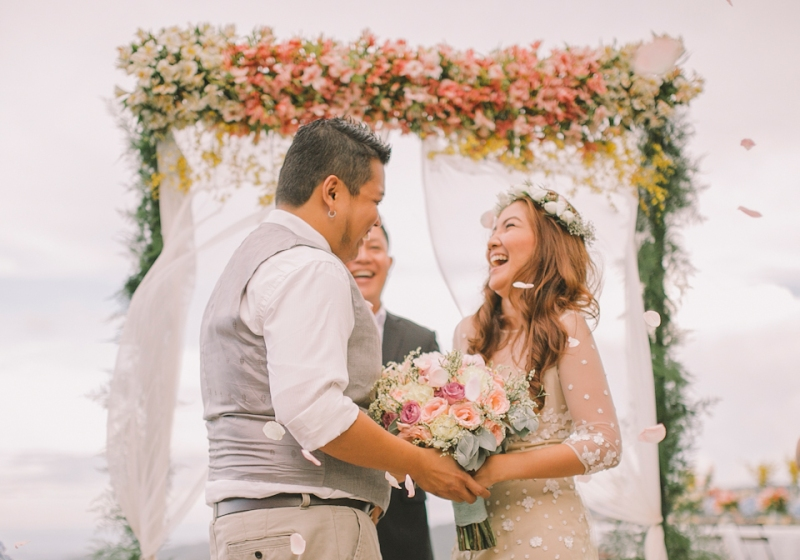 Cuckoo Cloud Concepts Jayson and Charm Secret Wedding Rancho Cancio Cebu Wedding Stylist Bohemian Elegance Event Styling Lush Bouquet Intimate -20