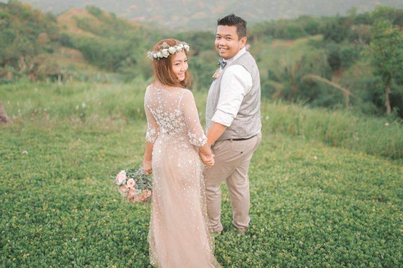 Cuckoo Cloud Concepts Jayson and Charm Secret Wedding Rancho Cancio Cebu Wedding Stylist Bohemian Elegance Event Styling Lush Bouquet Intimate -26