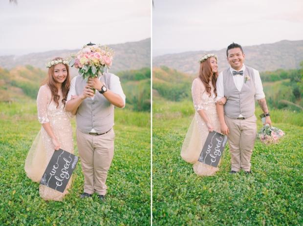 Cuckoo Cloud Concepts Jayson and Charm Secret Wedding Rancho Cancio Cebu Wedding Stylist Bohemian Elegance Event Styling Lush Bouquet Intimate -47