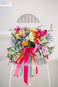 Bright & Colorful Hand-tied Tropical Bouquet for an Editorial // photo by Blinkbox Photos