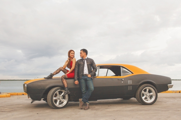 Cuckoo Cloud Concepts Francis and April Engagement Session Grunge Sports Car Edgy -15