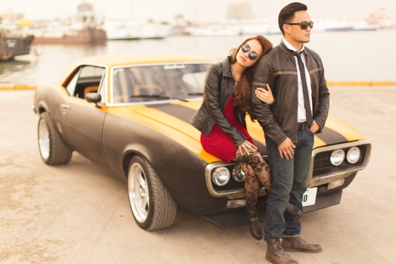 Cuckoo Cloud Concepts Francis and April Engagement Session Grunge Sports Car Edgy -16