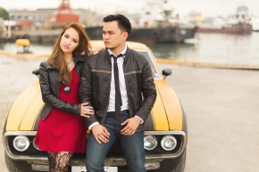 Cuckoo Cloud Concepts Francis and April Engagement Session Grunge Sports Car Edgy -18