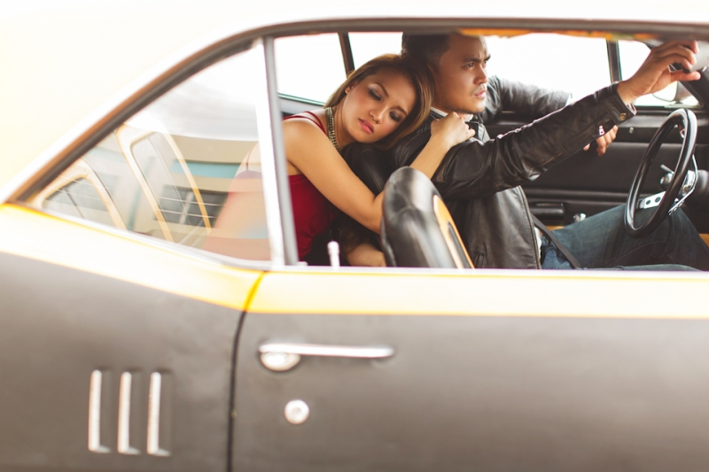 Cuckoo Cloud Concepts Francis and April Engagement Session Grunge Sports Car Edgy -19