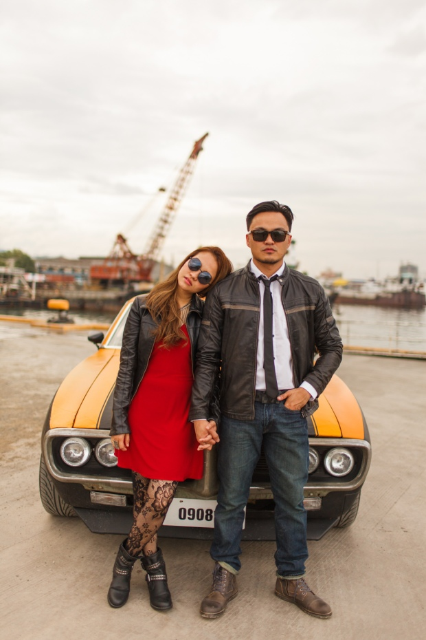 Cuckoo Cloud Concepts Francis and April Engagement Session Grunge Sports Car Edgy -2