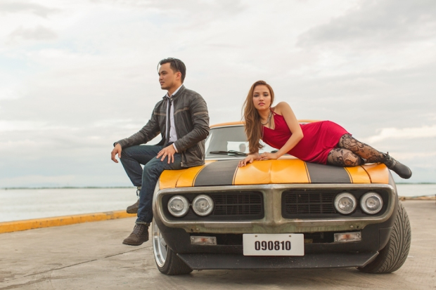Cuckoo Cloud Concepts Francis and April Engagement Session Grunge Sports Car Edgy -7