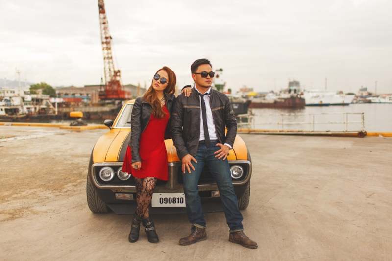 Cuckoo Cloud Concepts Francis and April Engagement Session Grunge Sports Car Edgy -9