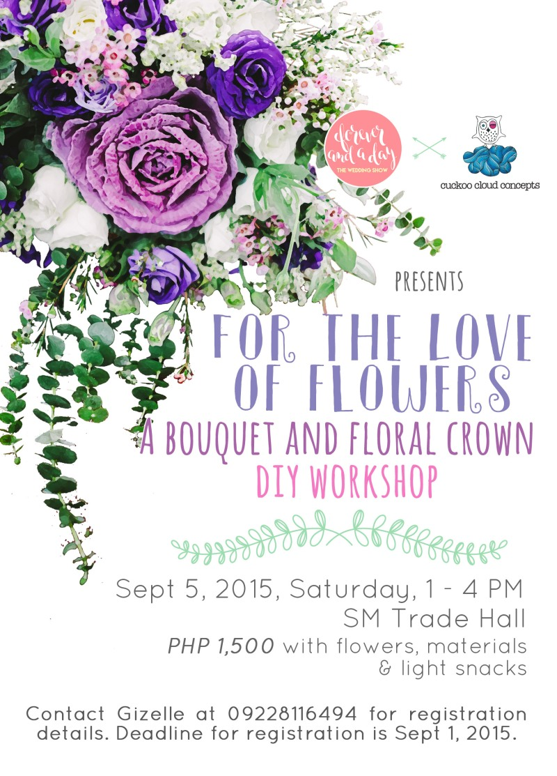 Floral Workshop by Gizelle Cuckoo Cloud Concepts Forever and a Day Wedding Show 2015