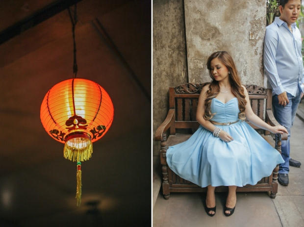 Cuckoo Cloud Concepts Edsel and Nat Engagement Session Alice in Wonderland Oriental Vintage House Open Field Teacups Clocks Blue Dress-40
