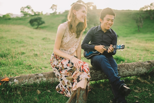 Cuckoo Cloud Concepts Gabriel Amy Engagement Session Country Girl Cowboy Boots City Boy Mountains Sunset-11