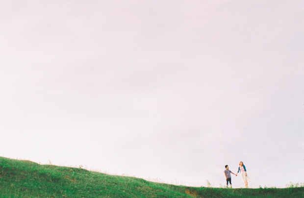 Cuckoo Cloud Concepts Gabriel Amy Engagement Session Country Girl Cowboy Boots City Boy Mountains Sunset-12