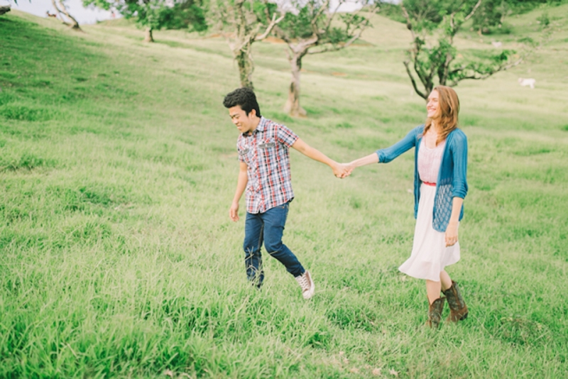 Cuckoo Cloud Concepts Gabriel Amy Engagement Session Country Girl Cowboy Boots City Boy Mountains Sunset-13