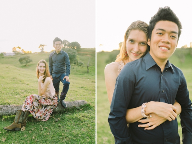 Cuckoo Cloud Concepts Gabriel Amy Engagement Session Country Girl Cowboy Boots City Boy Mountains Sunset-15