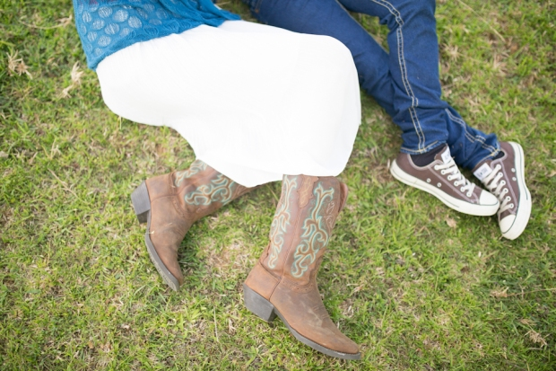 Cuckoo Cloud Concepts Gabriel Amy Engagement Session Country Girl Cowboy Boots City Boy Mountains Sunset-5