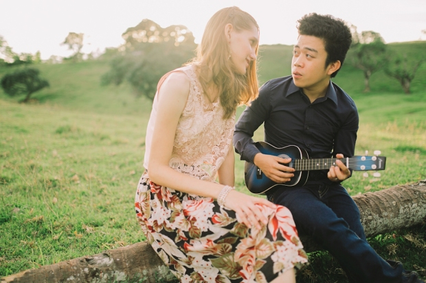Cuckoo Cloud Concepts Gabriel Amy Engagement Session Country Girl Cowboy Boots City Boy Mountains Sunset-7