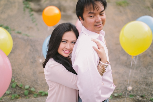 Cuckoo Cloud Concepts Julius and Pavirly Engagement Session Balloons Field Projected Images Colorful Fringes-10