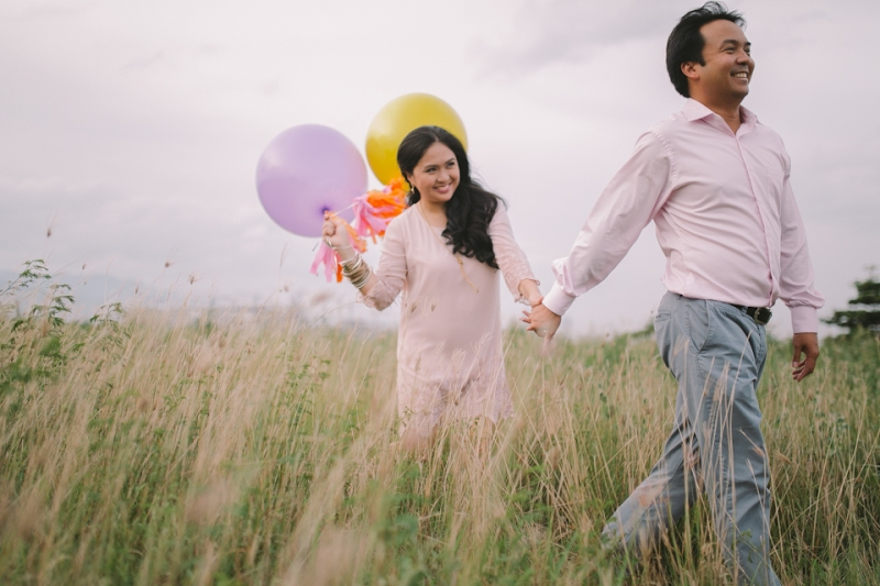 Cuckoo Cloud Concepts Julius and Pavirly Engagement Session Balloons Field Projected Images Colorful Fringes-18