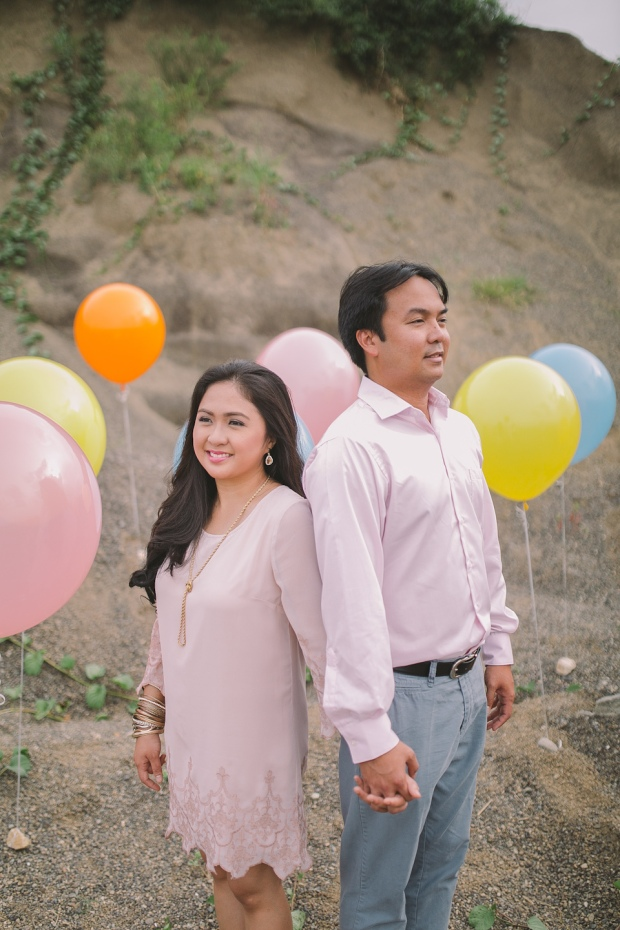 Cuckoo Cloud Concepts Julius and Pavirly Engagement Session Balloons Field Projected Images Colorful Fringes-3