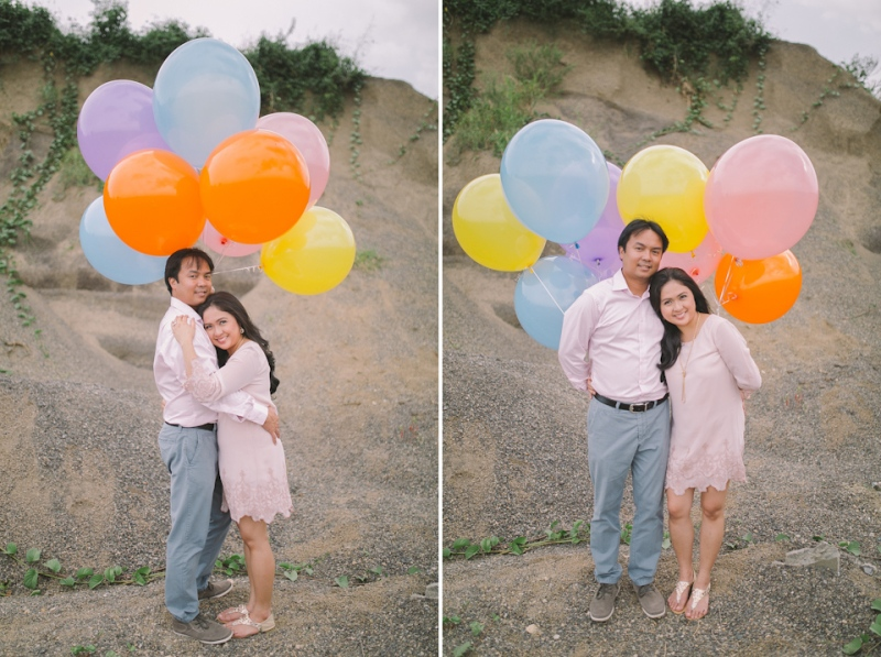 Cuckoo Cloud Concepts Julius and Pavirly Engagement Session Balloons Field Projected Images Colorful Fringes-32