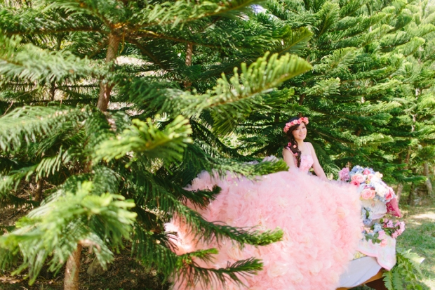 Cuckoo Cloud Concepts Alexis Mendoza Debut Photoshoot Whimsical Fairytale Princess and the Pea Pod Flowers Cebu Stylist -14