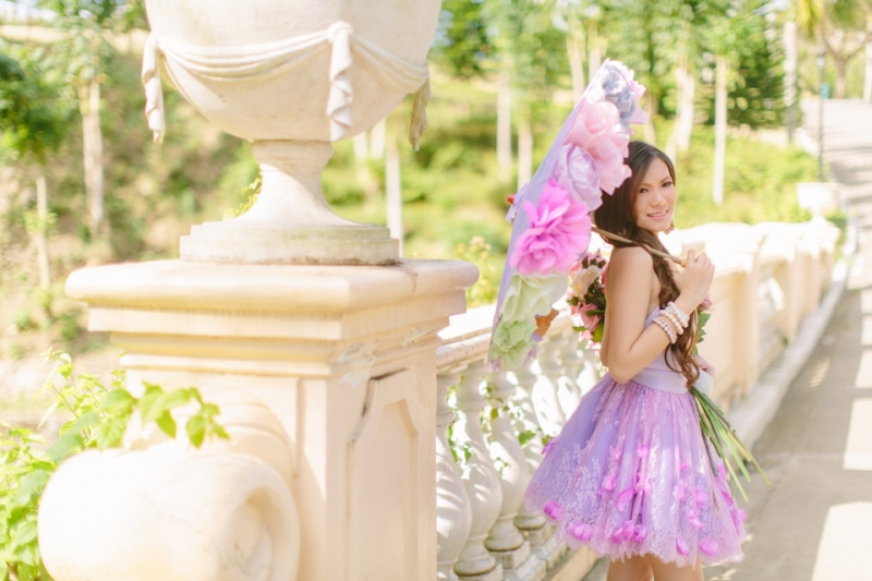 Cuckoo Cloud Concepts Alexis Mendoza Debut Photoshoot Whimsical Fairytale Princess and the Pea Pod Flowers Cebu Stylist -23