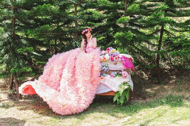 Cuckoo Cloud Concepts Alexis Mendoza Debut Photoshoot Whimsical Fairytale Princess and the Pea Pod Flowers Cebu Stylist -8