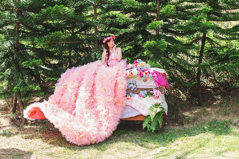 Cuckoo Cloud Concepts Alexis Mendoza Debut Photoshoot Whimsical Fairytale Princess and the Pea Pod Flowers Cebu Stylist -8