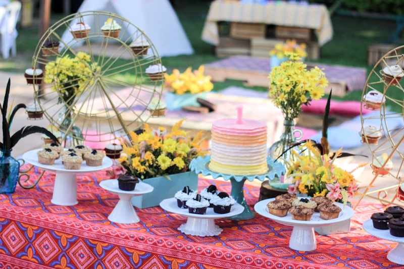 Cuckoo Cloud Concepts Noa Chiongbian First Birthday Noachelle Coachella Inspired Bohemian Teepee Paradise Village Park-5
