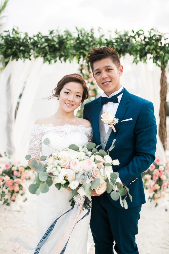 Cuckoo Cloud Concepts Simon & Yukie Navy & Blush beach Wedding Cebu Event Stylist 13
