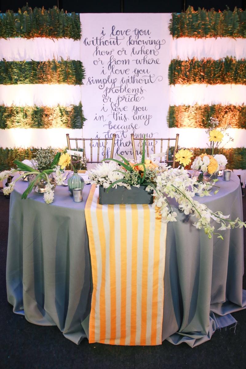 Cuckoo Cloud Concepts Jay Aimee Modern Grey And Yellow Wedding