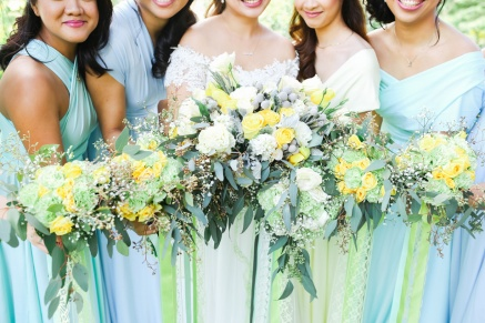 Shades of Yellows & Grey with Hints of Mint for Yza & Her Entourage   photo by Blinkbox Photos