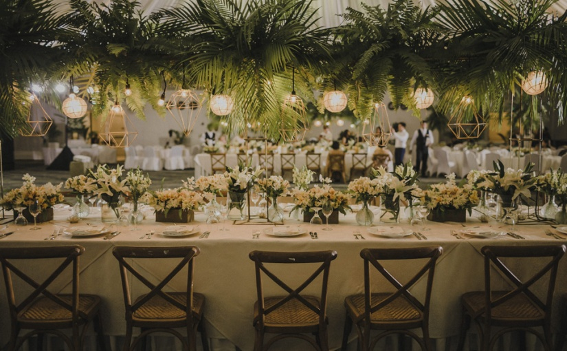 Modern Tropical Greenery: Dustin & Chloe Wedding