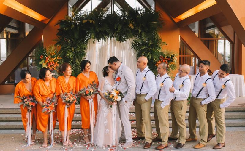 Tangerine Tropics: Mark & Cathy BeachWedding